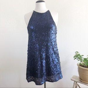 Forever 21 blue sequins dress